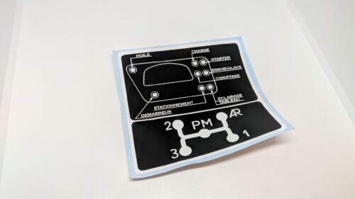 Citroen HY Sticker Schedule Dashboard