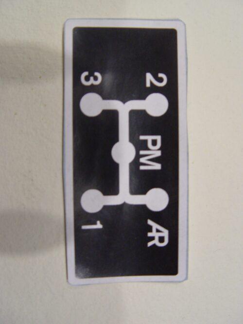 Sticker Gear Scheme Citroen HY BV48-66 part